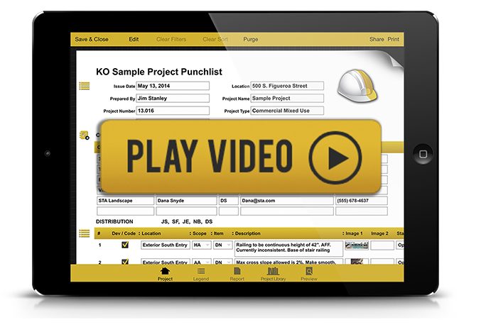 KO Punchlist - Eliminate the headache of project closeout